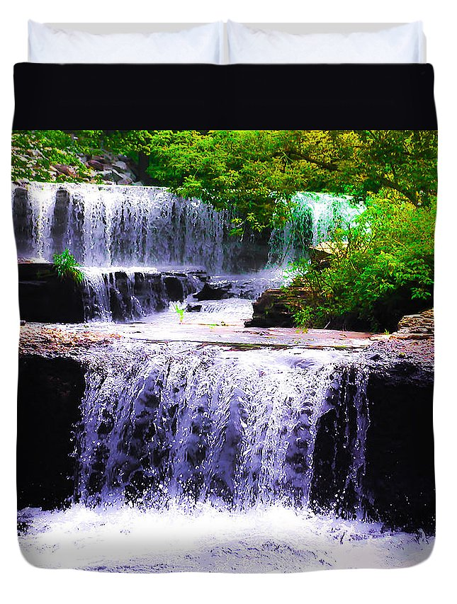 Beautiful Duvet Cover featuring the photograph Beautiful Waterfall by Bill Cannon