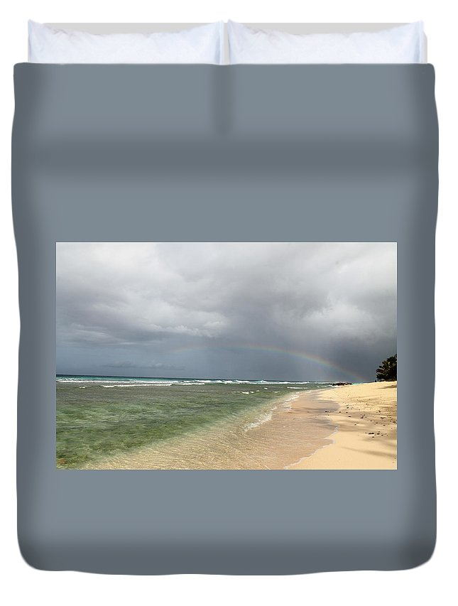 Rainbow Duvet Cover featuring the photograph Beauty After The Rain by Catie Canetti
