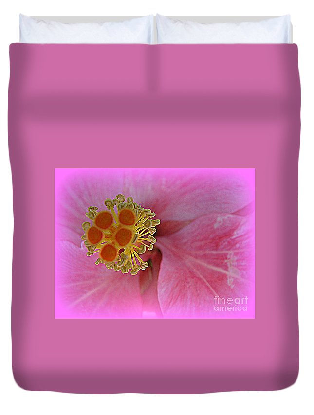 Hibiscus Flower Duvet Cover featuring the photograph Beauty In The Detail by C Ray Roth