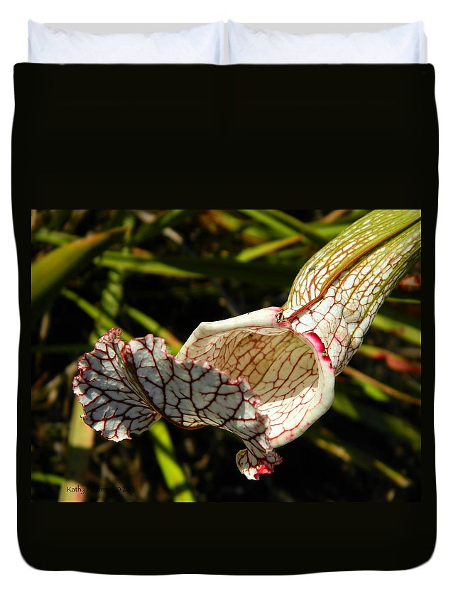 Flower Duvet Cover featuring the photograph Beckon by Kathy Barney