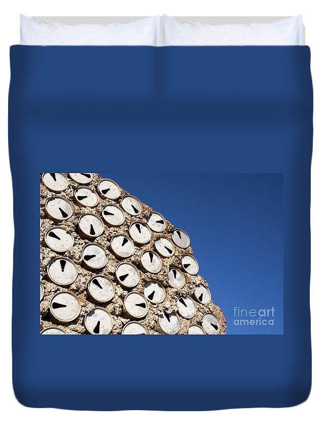 Lightning Ridge Duvet Cover featuring the photograph Beer Cans by Tim Hester