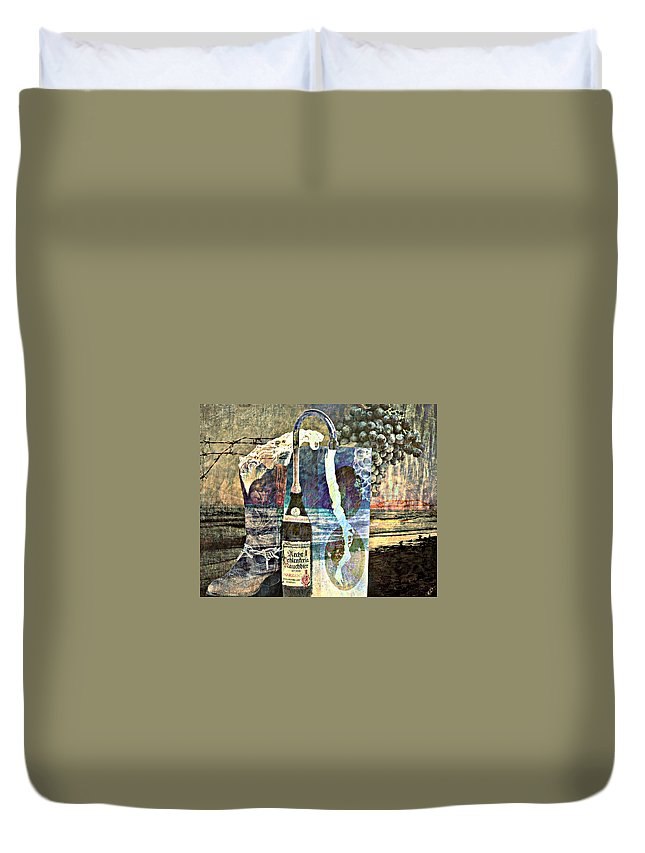 Surreal Duvet Cover featuring the mixed media Beer On Tap by Ally White