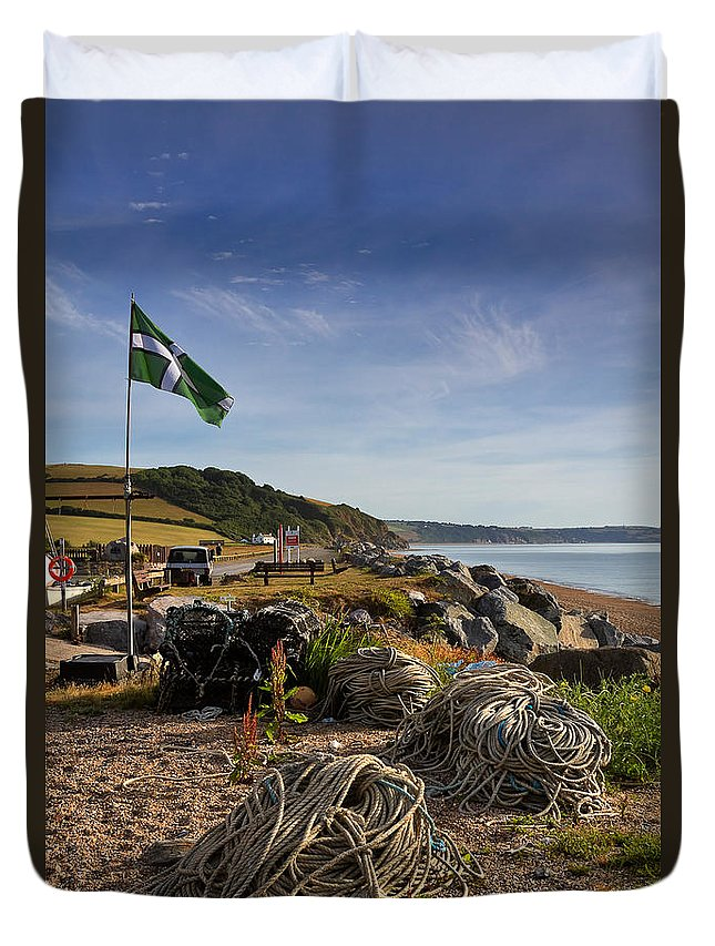 Travel Duvet Cover featuring the photograph Beesands by Louise Heusinkveld