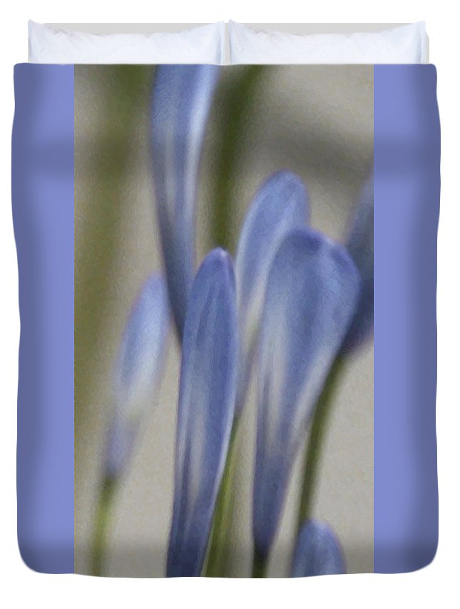 African Lily Duvet Cover featuring the photograph Before - Lily Of The Nile by Ben and Raisa Gertsberg