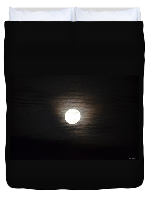 Before The Harvest Moon Duvet Cover featuring the photograph Before The Harvest Moon by Maria Urso