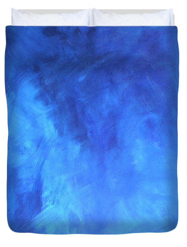 Blue Duvet Cover featuring the painting Before The Shattering 2009 by RalphGM