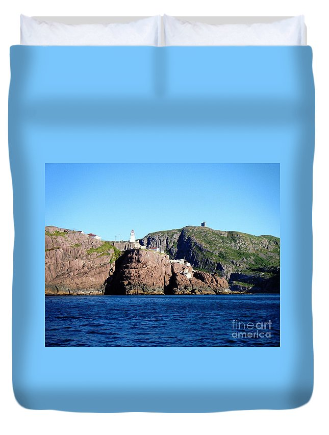 Behind Fort Amherst Rock 2 Duvet Cover featuring the photograph Behind Fort Amherst Rock 2 By Barbara Griffin by Barbara Griffin