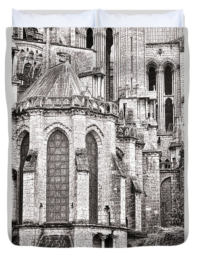 France Duvet Cover featuring the photograph Behind The Cathedral by Olivier Le Queinec