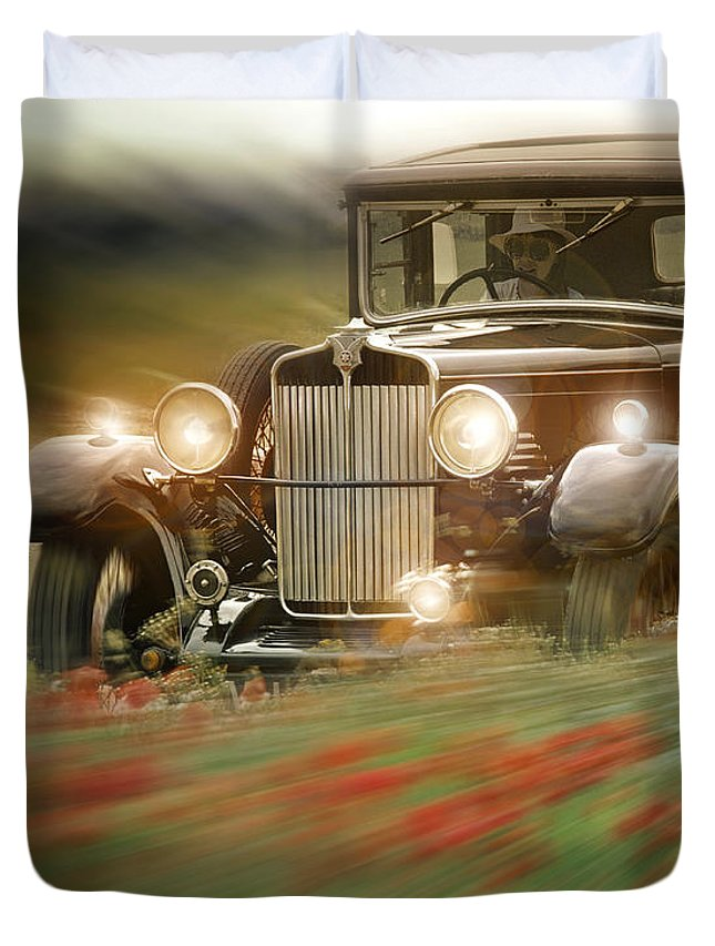 Star Duvet Cover featuring the photograph Behind The Wheel by Edmund Nagele