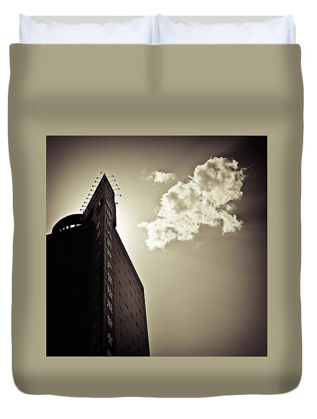 Beijing Duvet Cover featuring the photograph Beijing Cloud by Dave Bowman