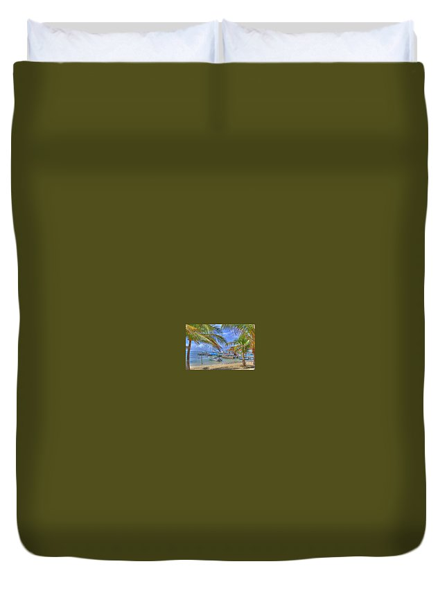 Belize Duvet Cover featuring the photograph Belize Hdr by Debby Richards