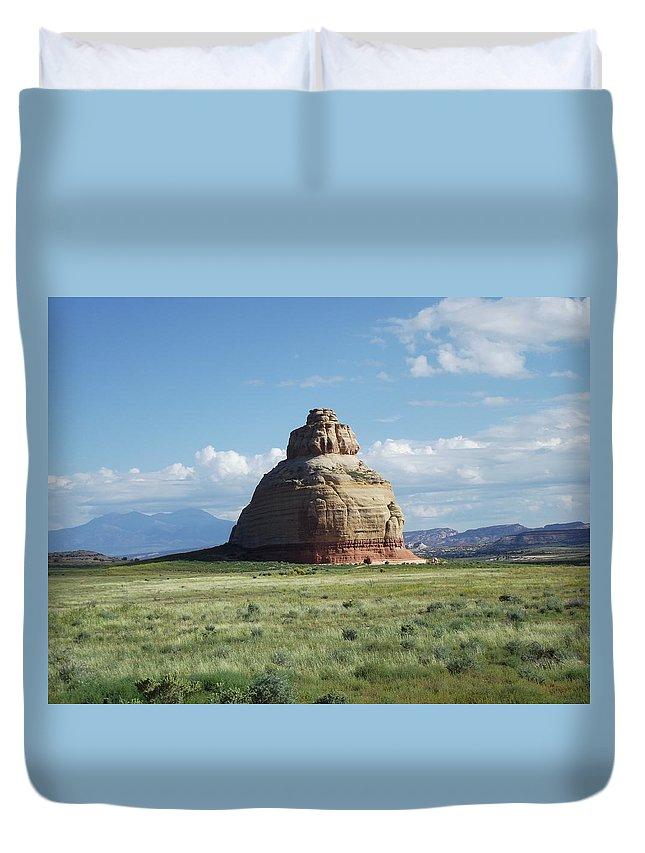 Bell Rock Duvet Cover featuring the photograph Bell Rock by Stan Scott