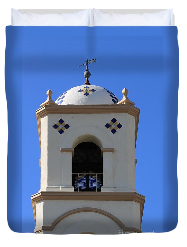 Tower Duvet Cover featuring the photograph Bell Tower by Henrik Lehnerer