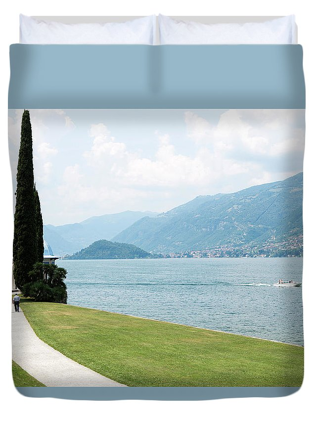 Tranquility Duvet Cover featuring the photograph Bellagio, Lake Como, Lombardy, Italy by Tim E White