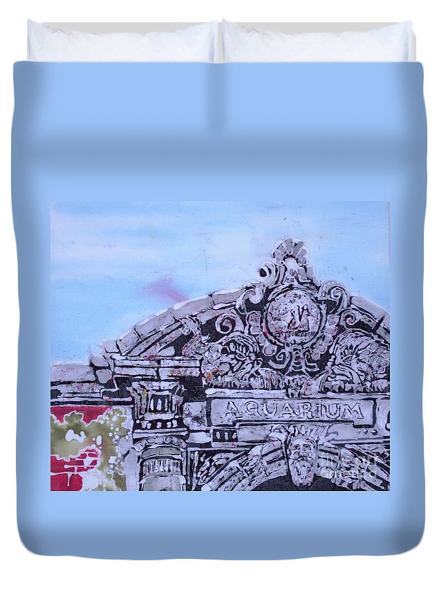 Belle Isle Duvet Cover featuring the tapestry - textile Belle Isle Aquarium by Kate Ford
