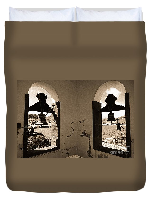 Bells Duvet Cover featuring the photograph Bells by Gaspar Avila
