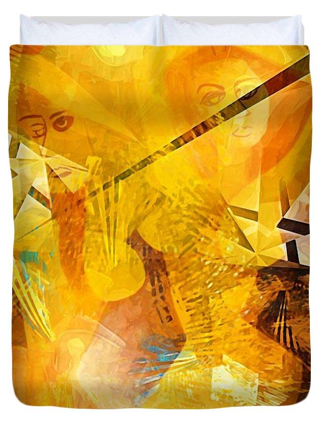 Painting Duvet Cover featuring the digital art Belly Dance - Marucii by Marek Lutek