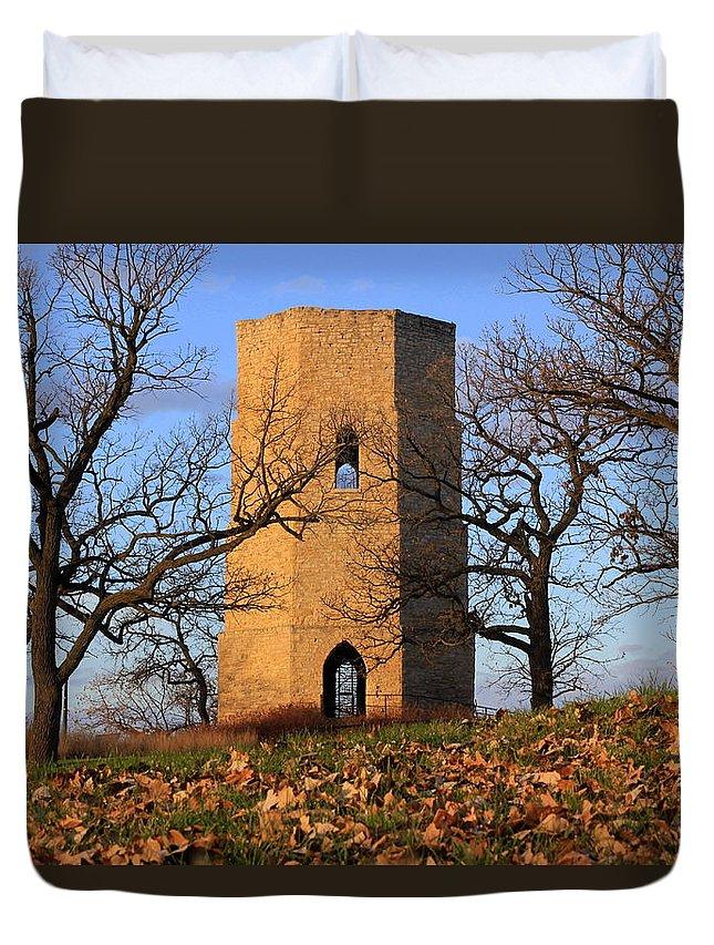 Beloit Duvet Cover featuring the photograph Beloit Historic Water Tower by Viviana Nadowski