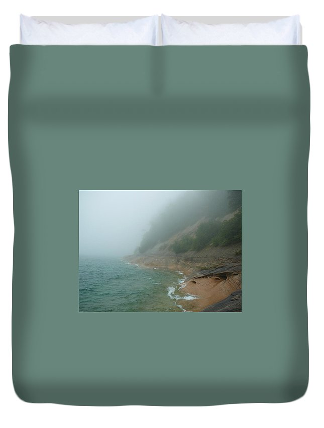 Upper Peninsula Duvet Cover featuring the photograph Beloved Lakeshore by Two Bridges North
