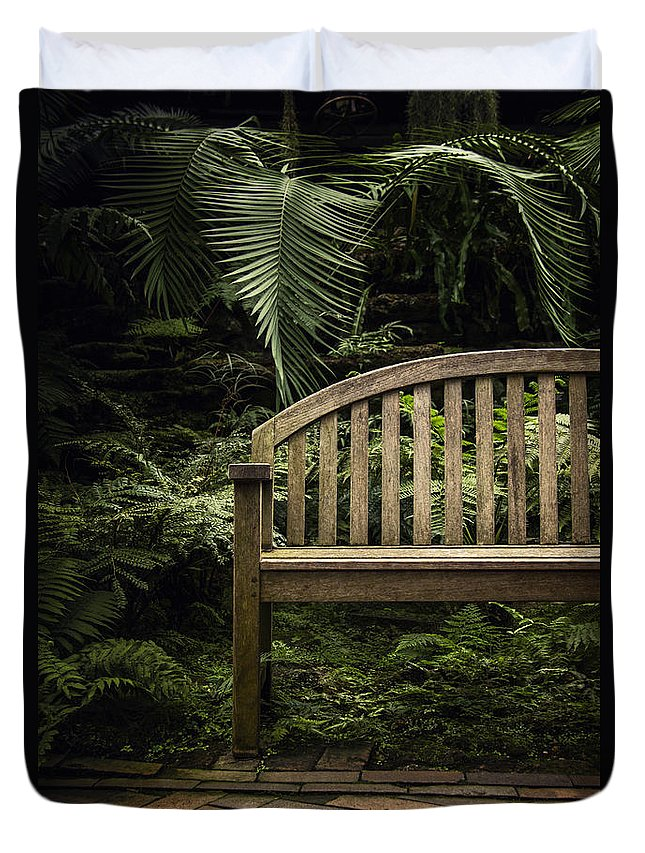 Bench Duvet Cover featuring the photograph Bench by Margie Hurwich