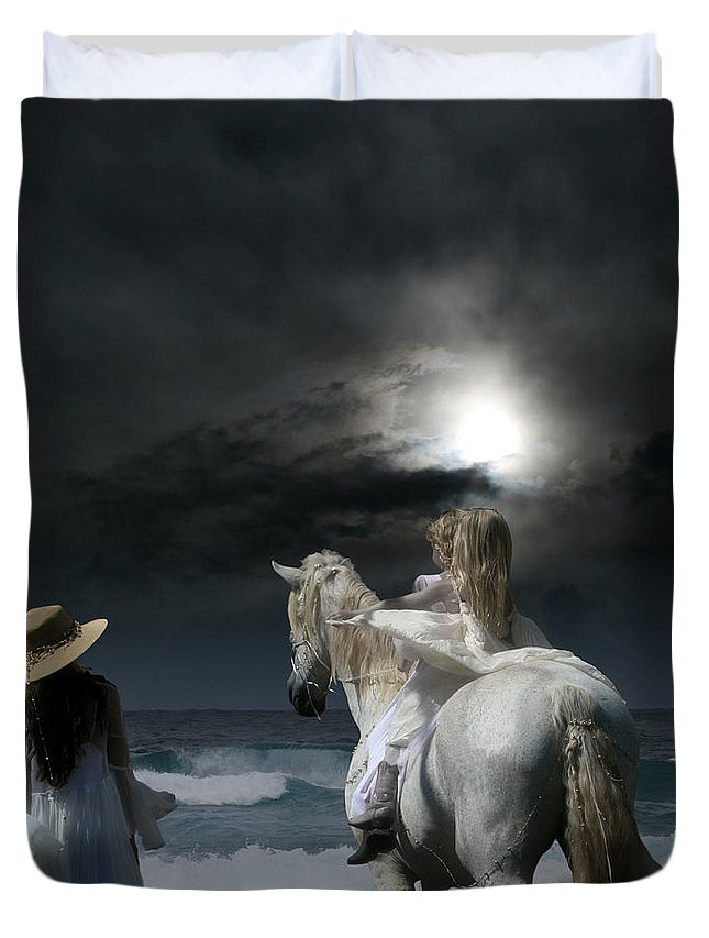 Beneath The Illusion In Colour Duvet Cover featuring the photograph Beneath The Illusion In Colour by Sharon Mau