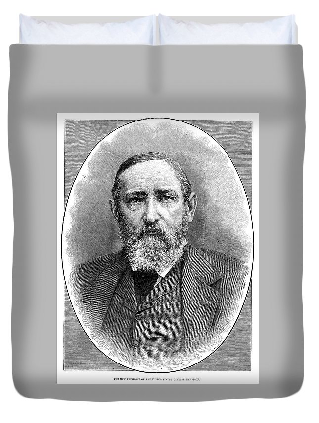 1888 Duvet Cover featuring the painting Benjamin Harrison (1833-1901) by Granger