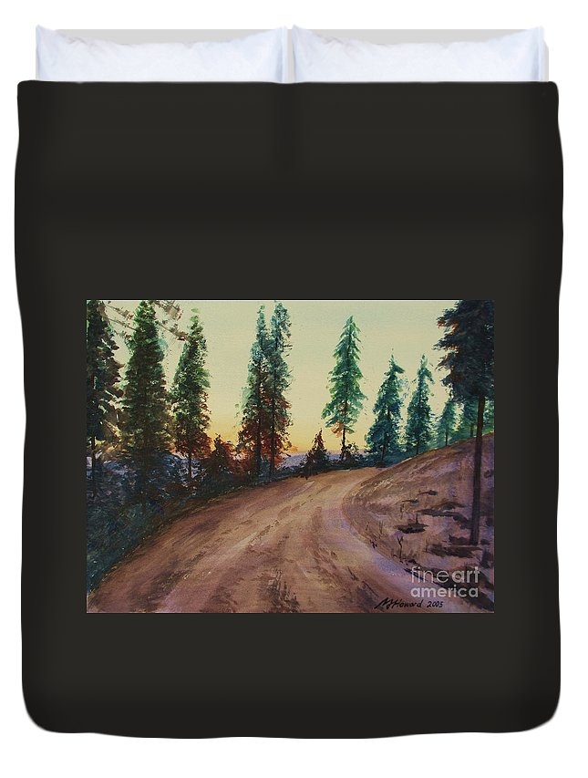 Impressionism Duvet Cover featuring the painting Bergebo Forest by Martin Howard