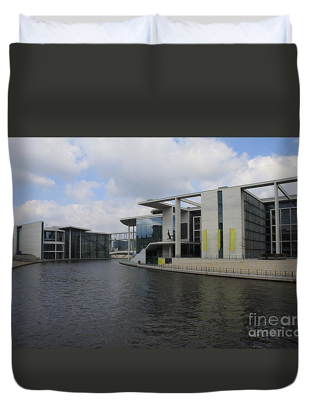 Government Building Duvet Cover featuring the photograph Berlin Government Building by Christiane Schulze Art And Photography