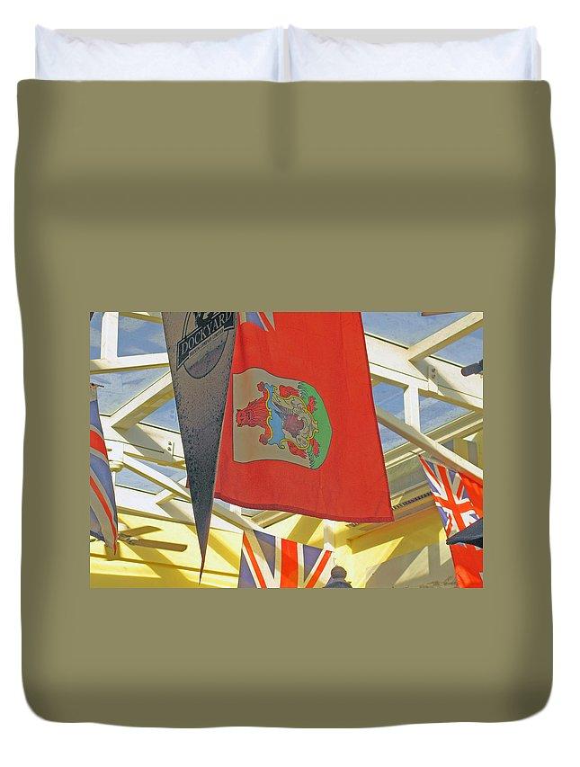 Bermuda Duvet Cover featuring the photograph Bermuda Dockyard by Ian MacDonald