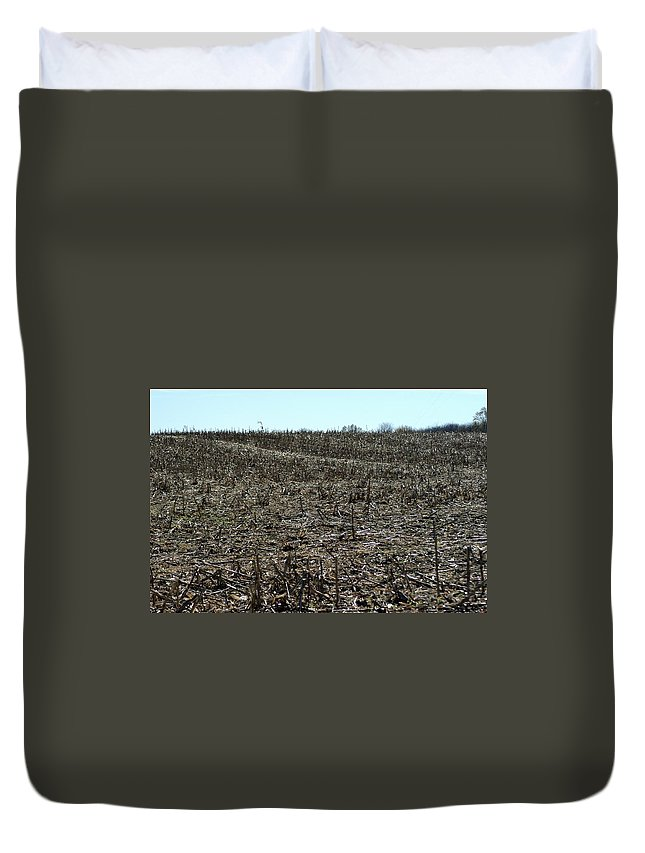 Corn Duvet Cover featuring the photograph Between Sky And Field by Joseph Yarbrough