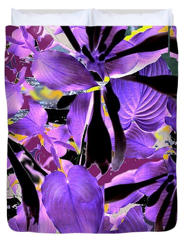 Beware The Midnight Garden Duvet Cover featuring the digital art Beware The Midnight Garden by Seth Weaver