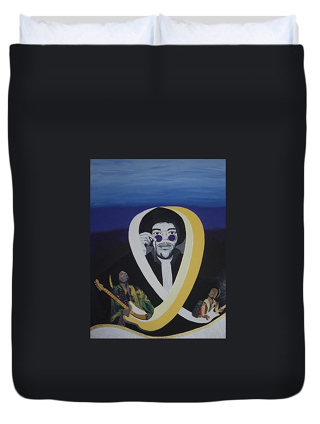 Memorable Duvet Cover featuring the painting Beyond The Haze by Dean Stephens