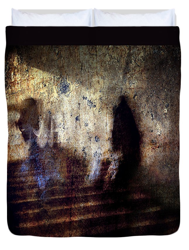 Abstract Duvet Cover featuring the photograph Beyond Two Souls by Stelios Kleanthous