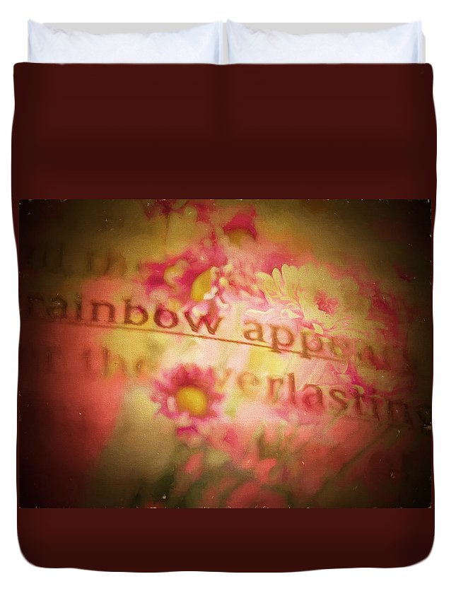 Floral Duvet Cover featuring the digital art Bible Passages V by Tina Baxter