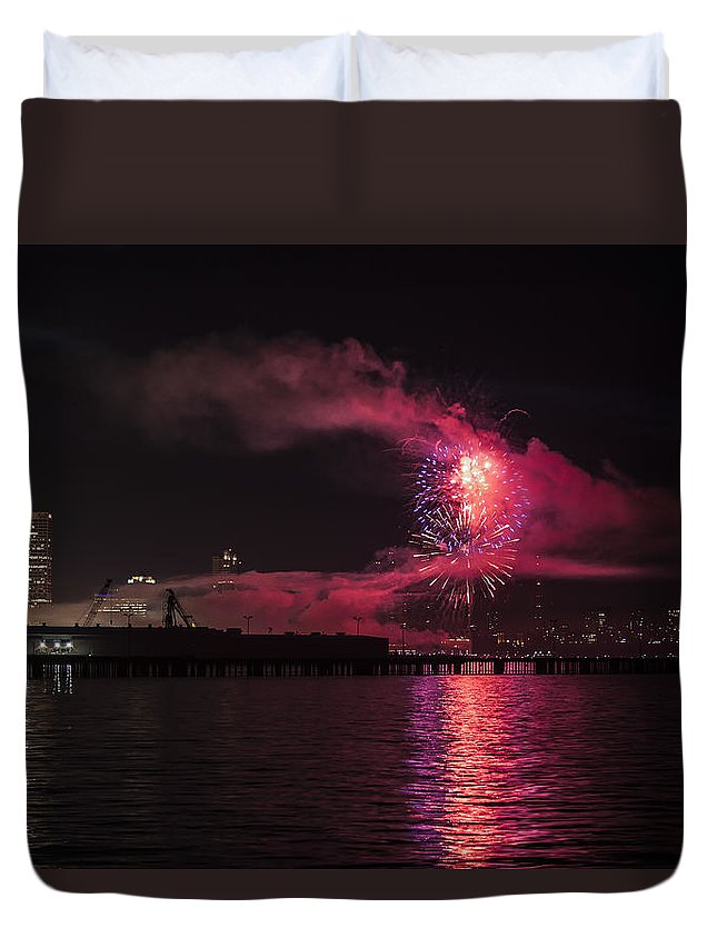 Www.cjschmit.com Duvet Cover featuring the photograph Big Bang 2013 by CJ Schmit