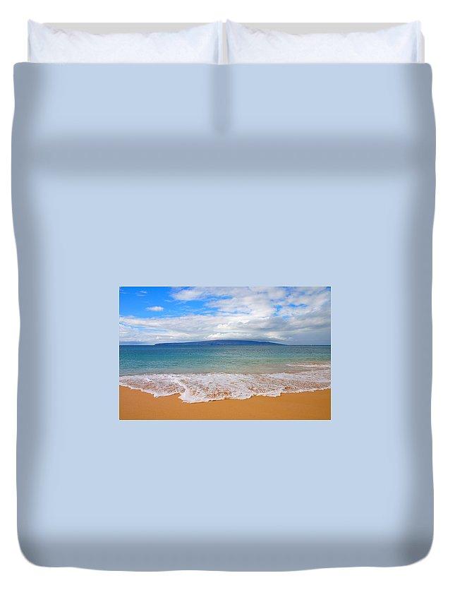 Beach Duvet Cover featuring the photograph Big Beach Maui by Charles Owens
