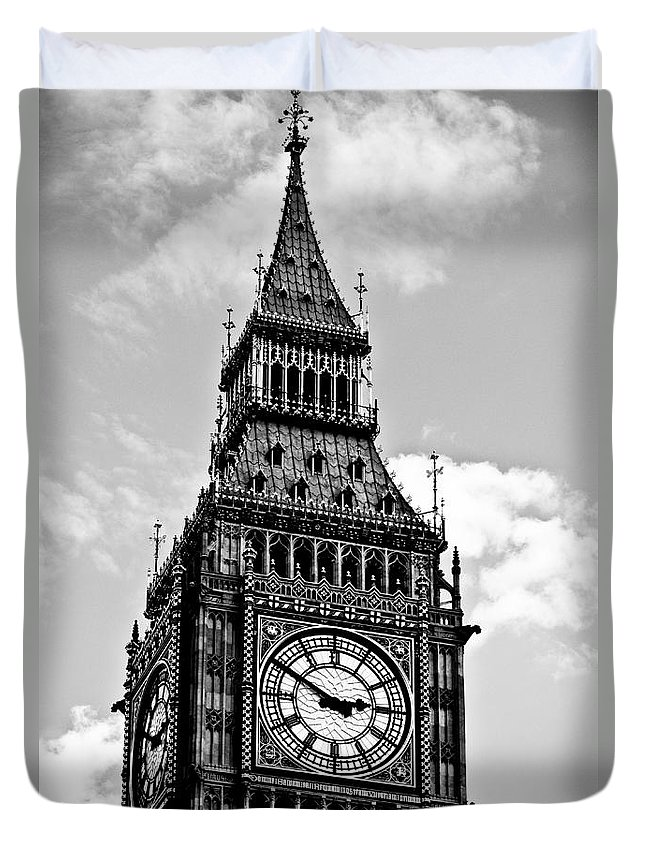 Big Ben Duvet Cover featuring the photograph Big Ben by Lana Enderle