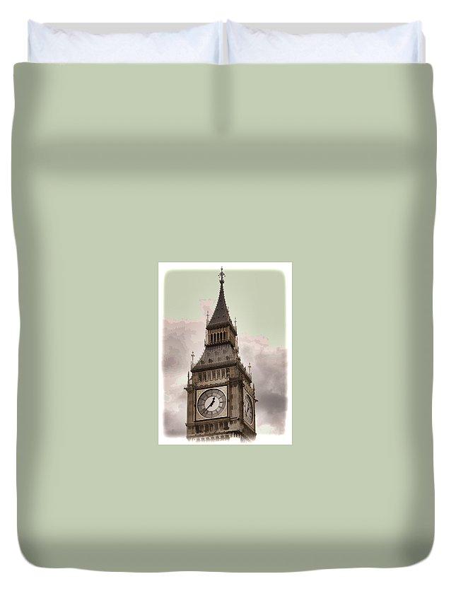 Big Ben Duvet Cover featuring the photograph Big Ben - London by Jon Berghoff
