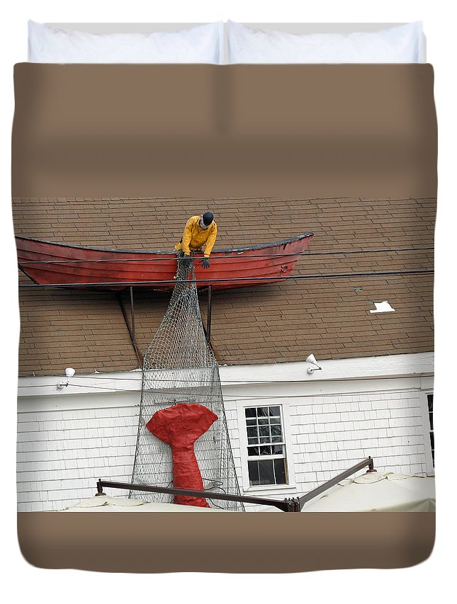 Lobster Duvet Cover featuring the photograph Big Catch by Barbara McDevitt