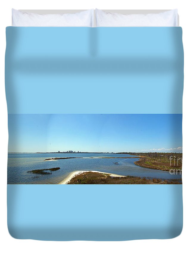 Big Lagoon Duvet Cover featuring the photograph Big Lagoon 1 by Nancy L Marshall