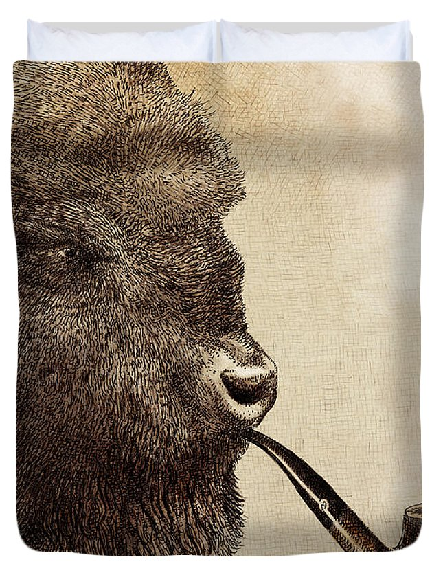 Brown Drawings Duvet Covers