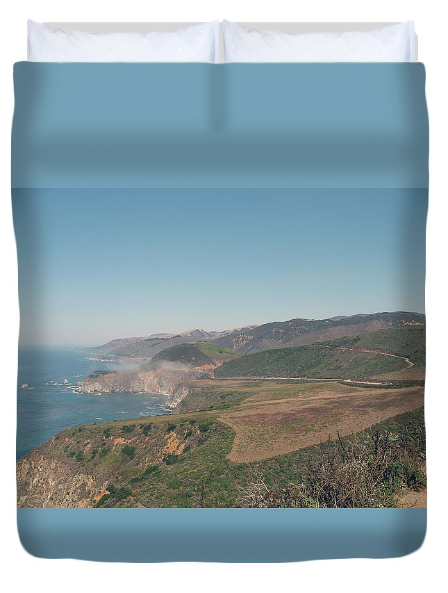 Big Sur Duvet Cover featuring the photograph Big Sur Coastline by Christiane Schulze Art And Photography