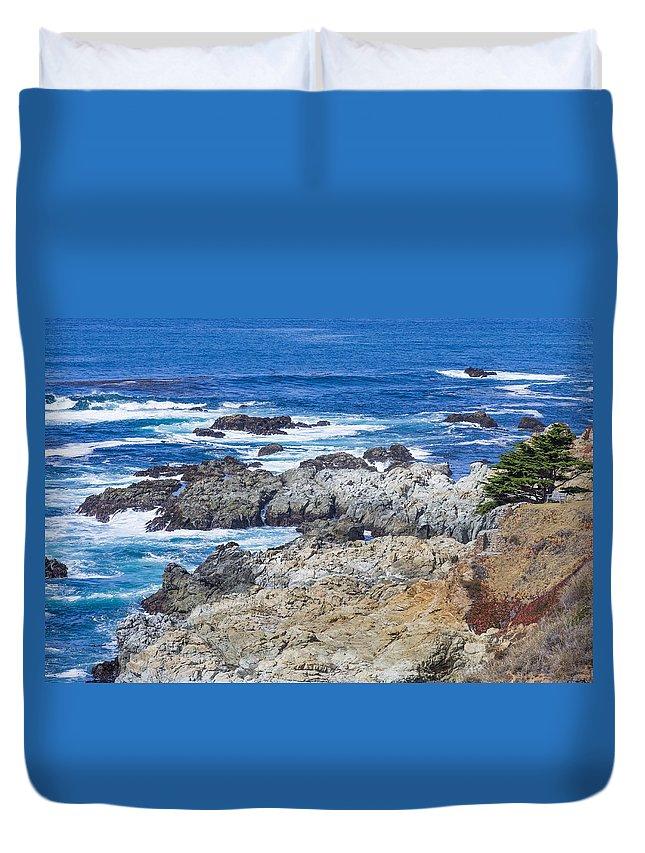 Big Sur Coastline Duvet Cover featuring the photograph Big Sur Coastline by Priya Ghose