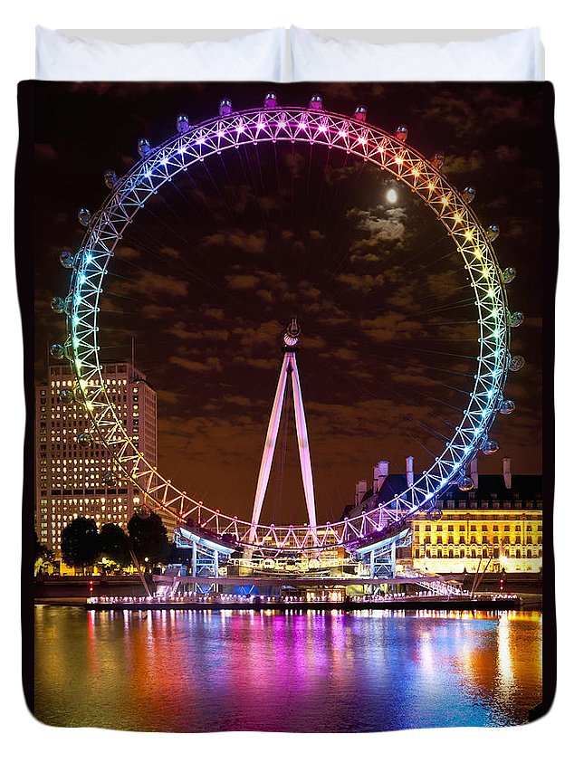 big wheel aka london eye lit up with duvet cover for sale by axiom