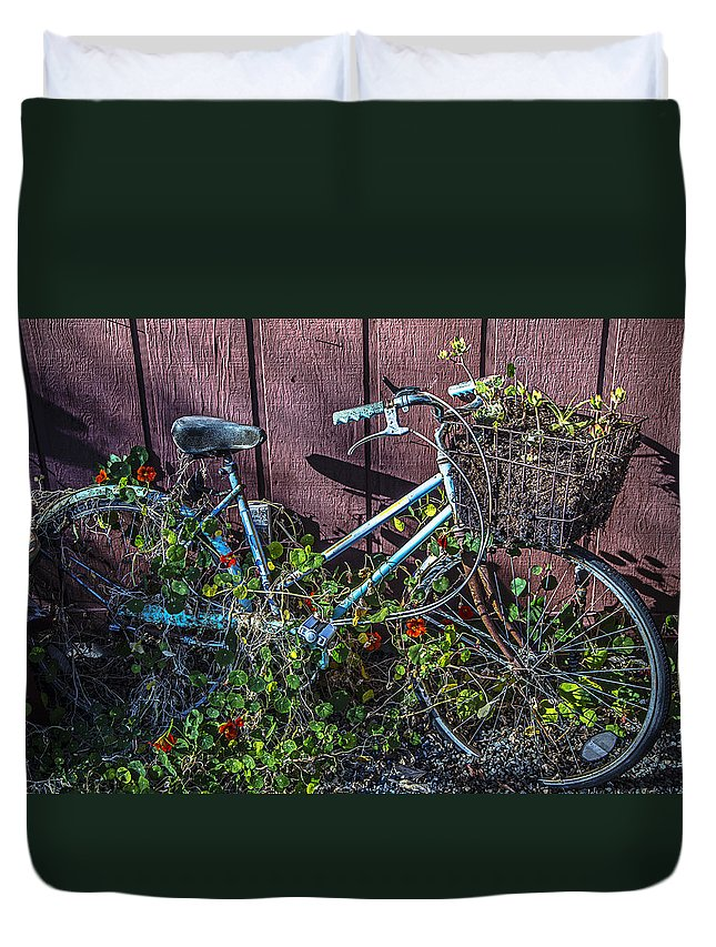Bike Duvet Cover featuring the photograph Bike In The Vines by Garry Gay