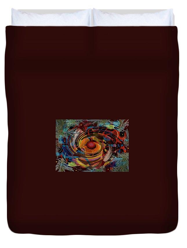 Spiral Duvet Cover featuring the digital art Biorhythm by Melinda Fawver