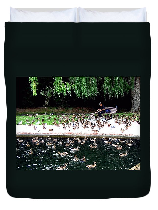 Wild Birds Duvet Cover featuring the photograph Bird Man by Will Borden