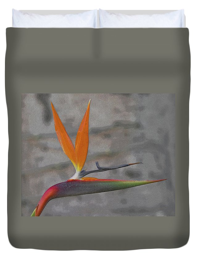 Bird Of Paradise Duvet Cover featuring the digital art Bird Of Paradise by Ernie Echols