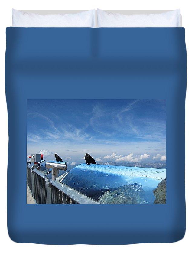 Bird Duvet Cover featuring the photograph Bird Watch by Pema Hou