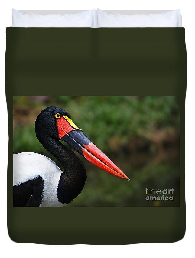 Birds Duvet Cover featuring the photograph Birds 4 by Ben Yassa